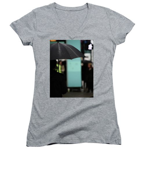 Women's V-Neck T-Shirt (Junior Cut) featuring the photograph I Dont Want To Walk Away  by Empty Wall