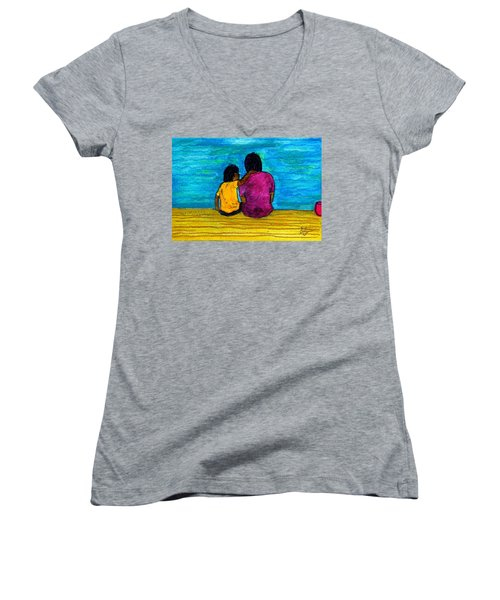I Got You Women's V-Neck T-Shirt (Junior Cut) by Angela L Walker
