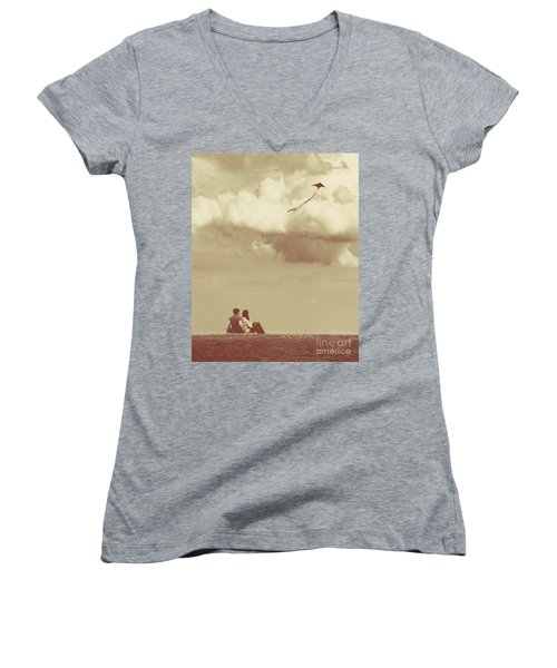 I Had A Dream I Could Fly From The Highest Swing Women's V-Neck (Athletic Fit)