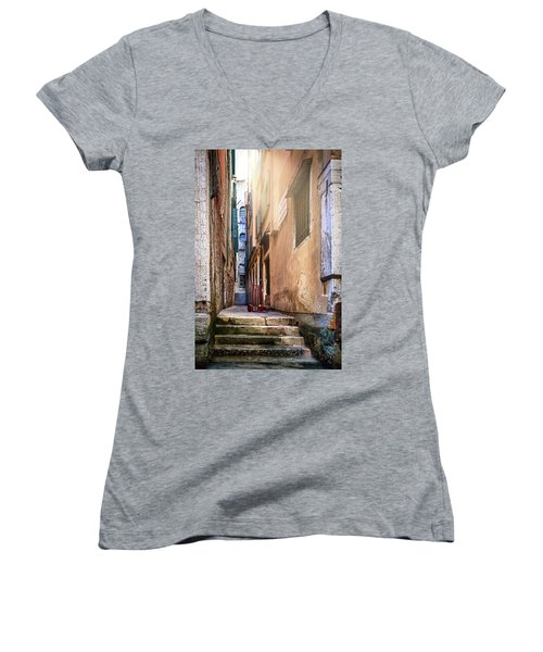 I Have Seen Your Trolley, Somewhere In Venice Women's V-Neck