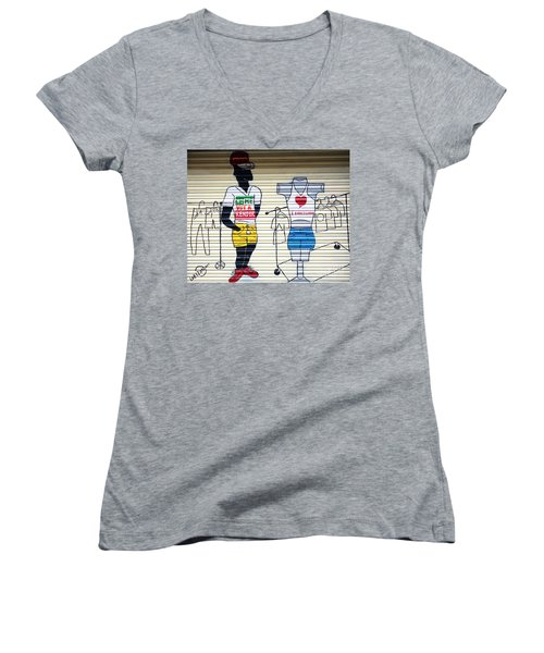 I Heart Barcelona Women's V-Neck (Athletic Fit)