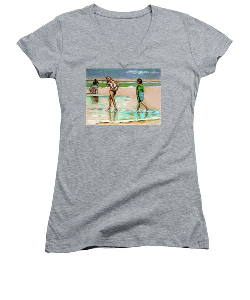 I Hope The Sun Comes Out Women's V-Neck (Athletic Fit)