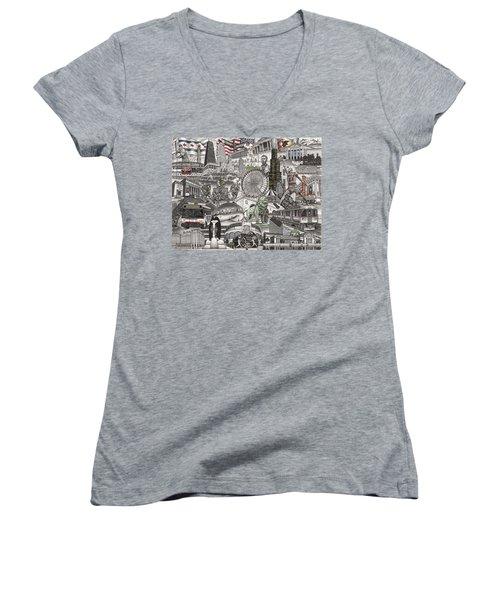 I Love Chicago Volume 2 Women's V-Neck T-Shirt