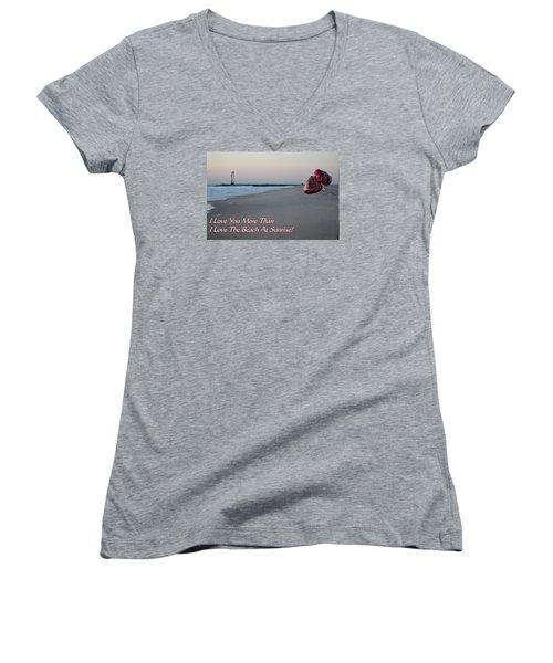 I Love You More Than... Women's V-Neck T-Shirt (Junior Cut) by Robert Banach