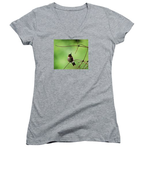 Women's V-Neck T-Shirt (Junior Cut) featuring the photograph I Need A Drink by Randy Bodkins