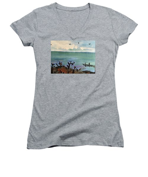 I Stood There And Watched It All Women's V-Neck T-Shirt