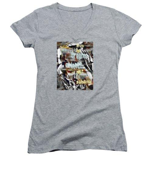 Mistaken Identity-i Will Be Silent No More Women's V-Neck T-Shirt