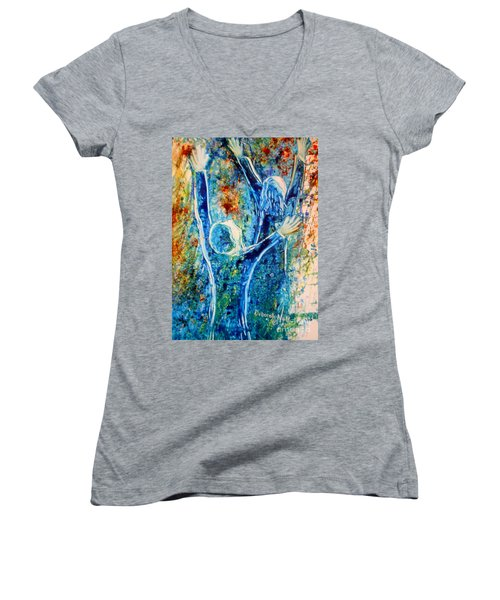 I Will Praise You In The Storm Women's V-Neck (Athletic Fit)