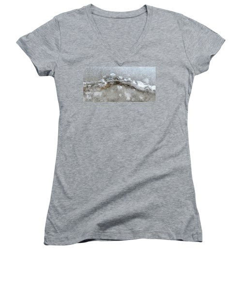 Ice And The Beach Four  Women's V-Neck T-Shirt (Junior Cut) by Lyle Crump