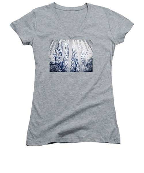 Women's V-Neck featuring the photograph Ice Bars by Robert Knight