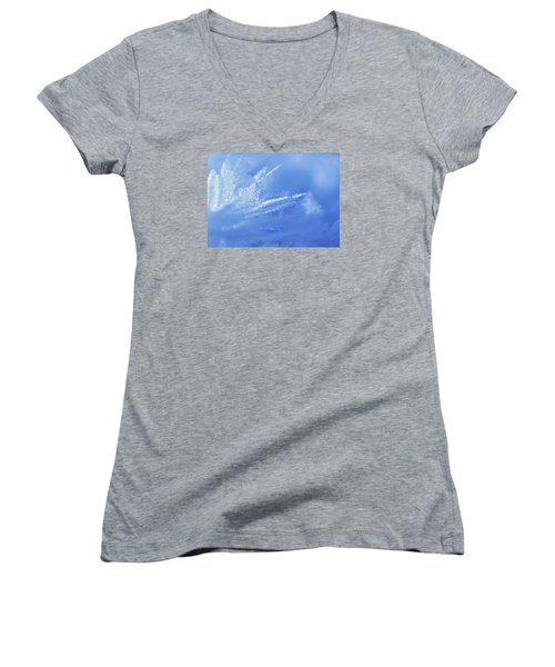 Ice Crystals Women's V-Neck