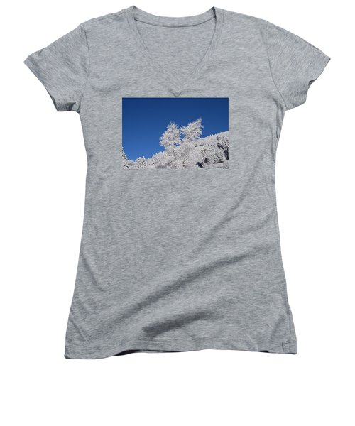 Ice Crystals Ute Pass Cos Co Women's V-Neck