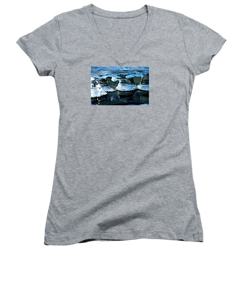 Ice Formation 10 Women's V-Neck