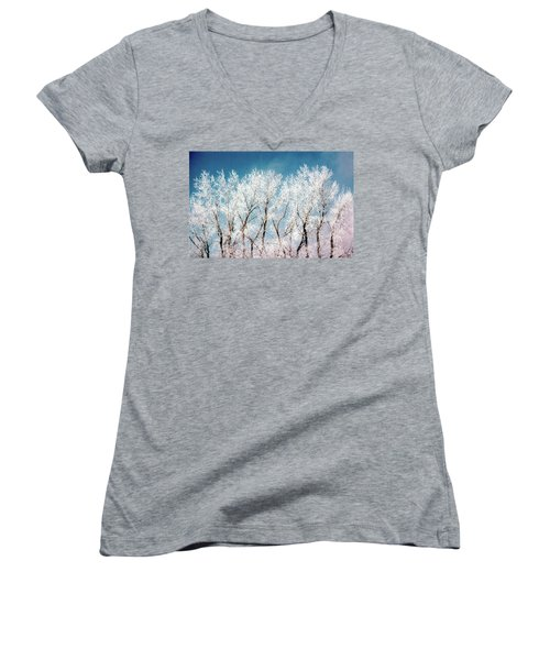 Ice Trees Women's V-Neck (Athletic Fit)