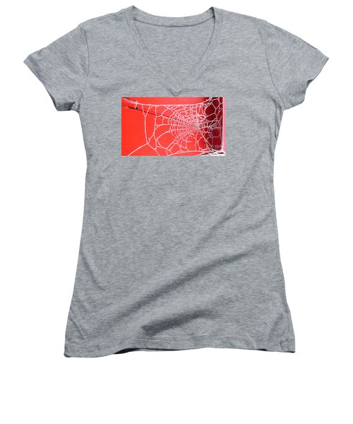 Ice Web Women's V-Neck T-Shirt
