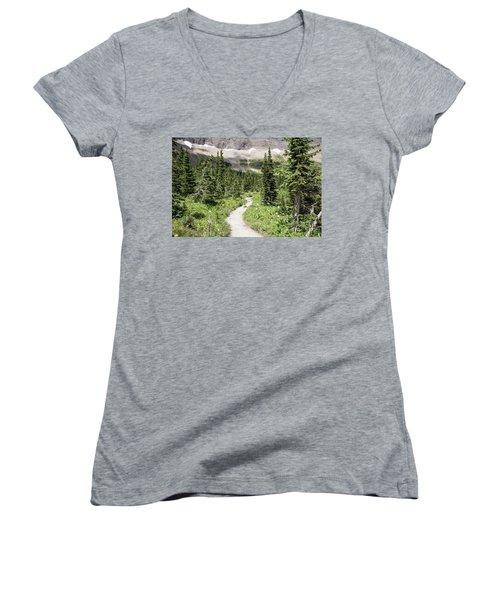 Iceberg Lake Trail Forest Women's V-Neck T-Shirt