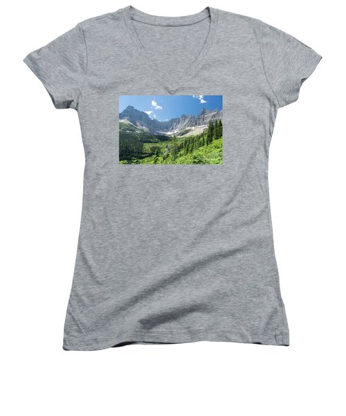 Iceberg Lake Trail - Glacier National Park Women's V-Neck T-Shirt
