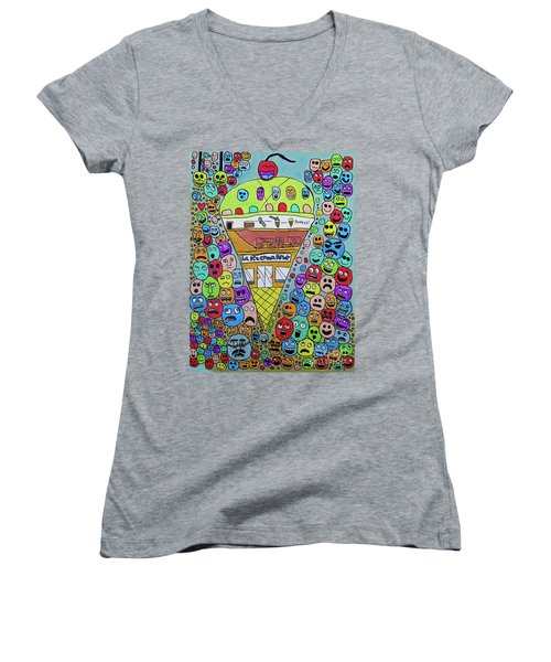 Icecream Parlor Women's V-Neck T-Shirt