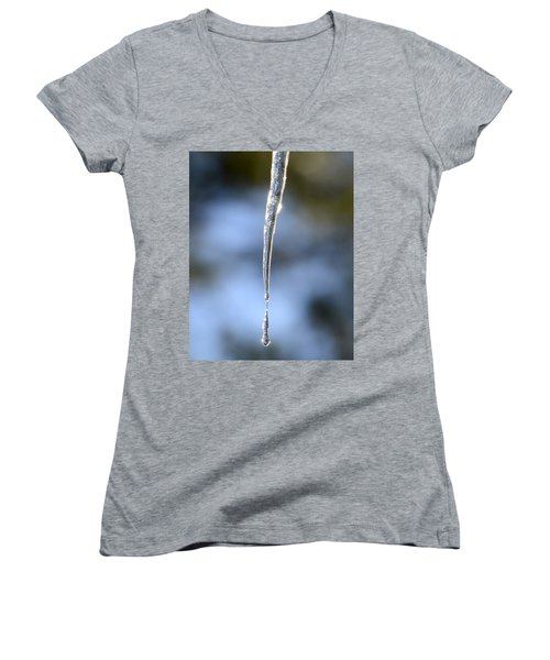 Icicles In Bloom Women's V-Neck T-Shirt