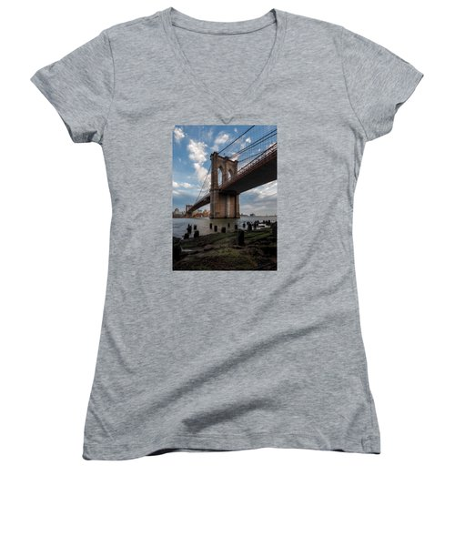 Women's V-Neck T-Shirt (Junior Cut) featuring the photograph Iconic by Anthony Fields