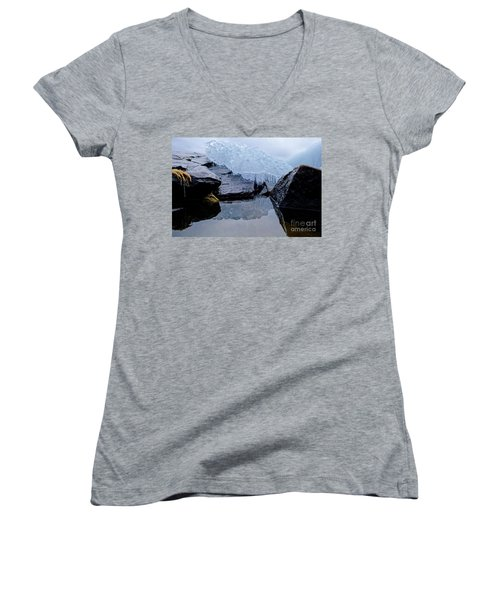 Icy Reflections Women's V-Neck T-Shirt