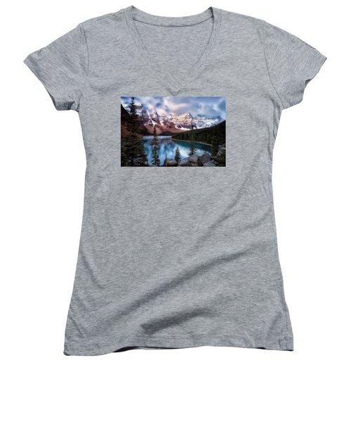 Icy Stillness Women's V-Neck T-Shirt