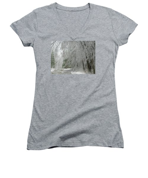 Icy Street Trees Women's V-Neck