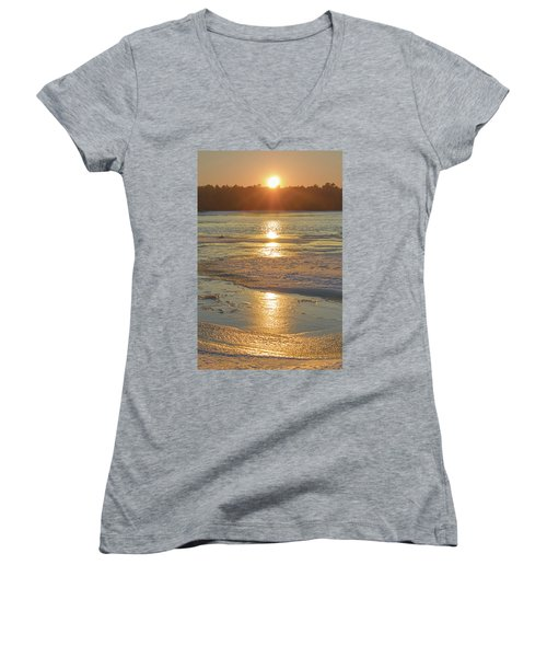 Icy Sunset Women's V-Neck (Athletic Fit)