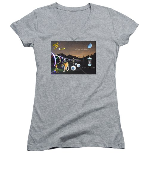 If I'm Not Here Women's V-Neck (Athletic Fit)