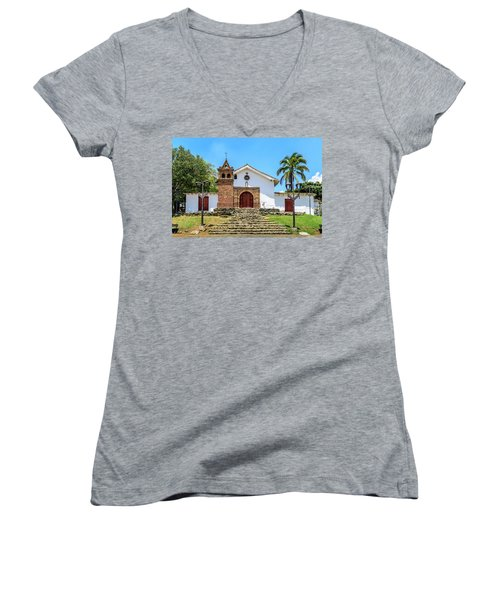 Iglesia De San Antonio Women's V-Neck (Athletic Fit)