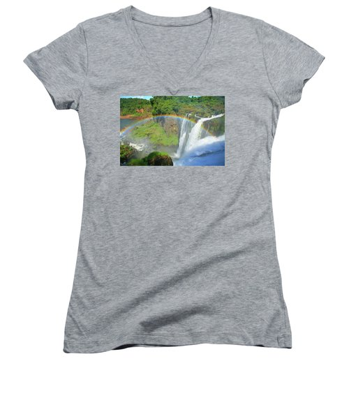 Iguazu Rainbow Women's V-Neck T-Shirt