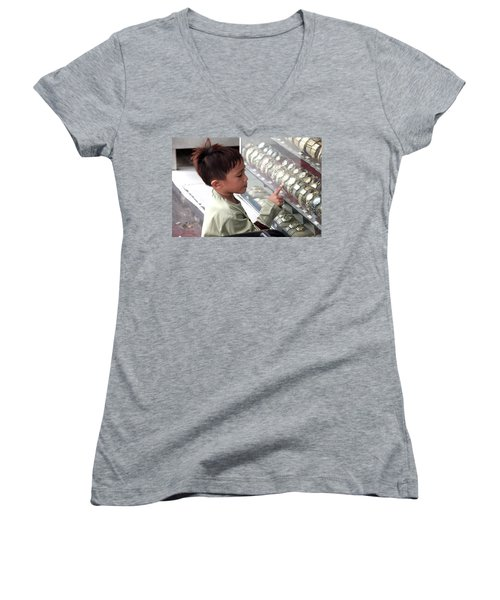 I'll Have The Rolex Women's V-Neck T-Shirt (Junior Cut) by Jez C Self