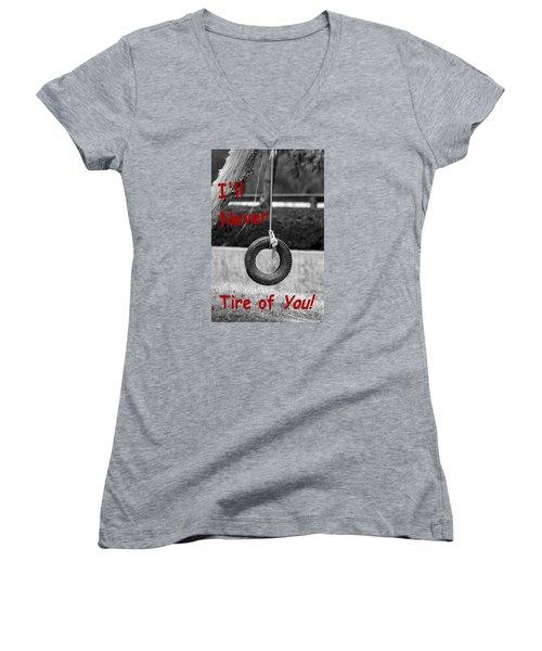 I'll Never Tire Of You Women's V-Neck T-Shirt (Junior Cut) by Bob Pardue