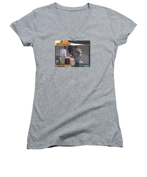 I'll Take A Large Please Women's V-Neck T-Shirt (Junior Cut)