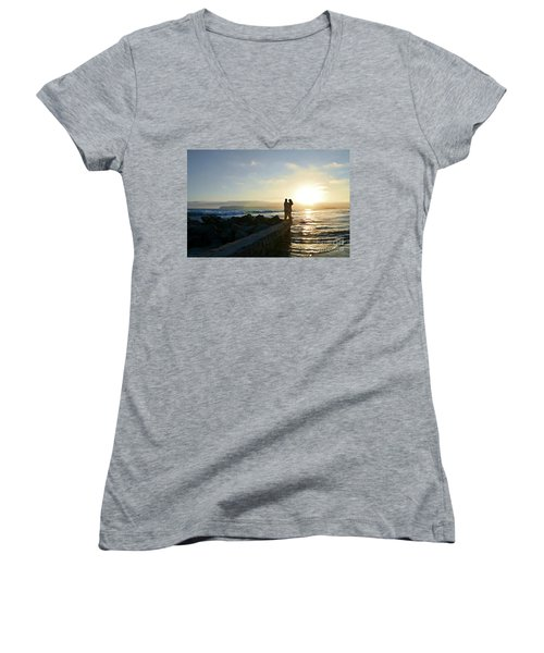 Illuminate  Women's V-Neck T-Shirt (Junior Cut) by Sharon Soberon