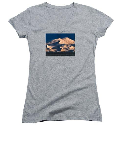 Illuminated Sand Dunes Women's V-Neck T-Shirt