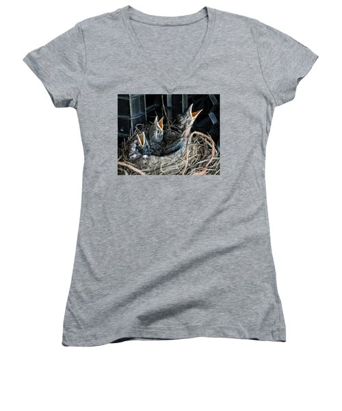 We're Hungry Women's V-Neck T-Shirt