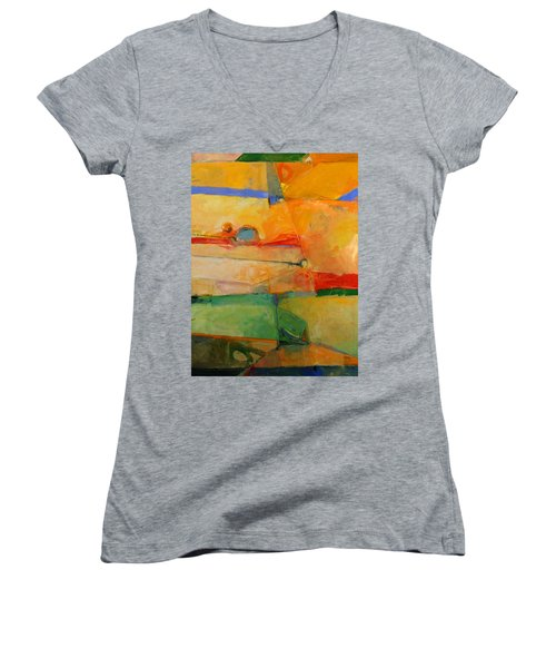 I'm In Corn  Women's V-Neck T-Shirt (Junior Cut) by Cliff Spohn