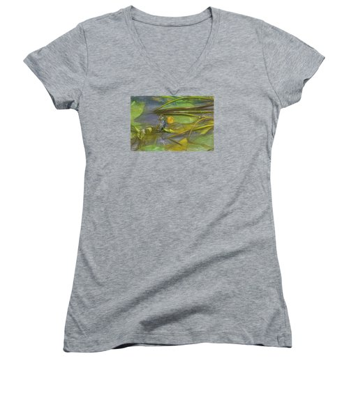 Women's V-Neck T-Shirt (Junior Cut) featuring the photograph Imaginary by Leif Sohlman