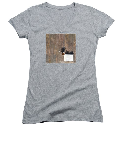 Imagination Women's V-Neck T-Shirt (Junior Cut) by Vincent Lee