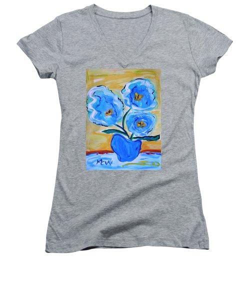 Imagine In Blue Women's V-Neck (Athletic Fit)