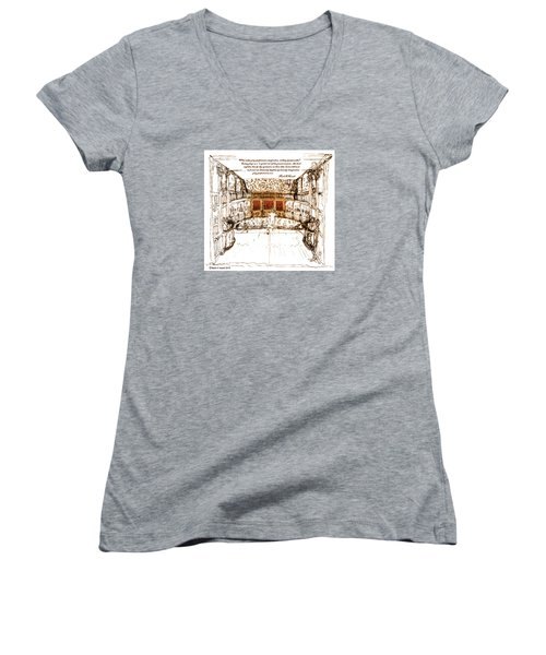 Imaginitive Genius V3 Women's V-Neck T-Shirt