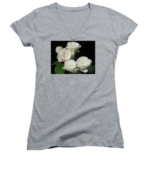 Women's V-Neck T-Shirt (Junior Cut) featuring the photograph Imperfection by Victor K
