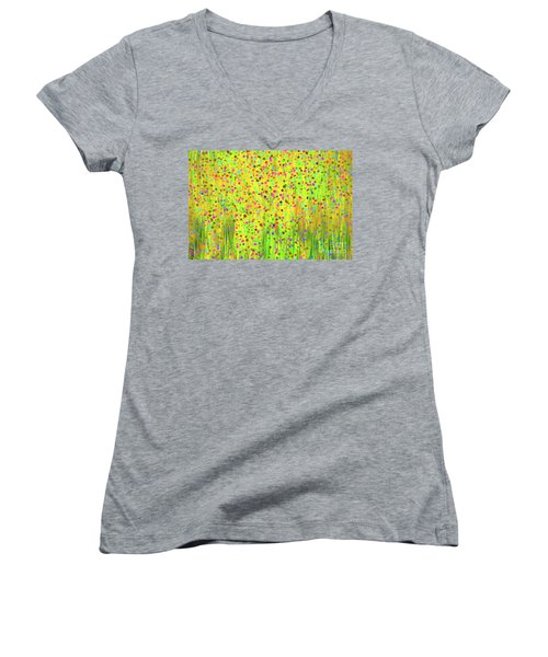 Impressionist Meadow Women's V-Neck T-Shirt