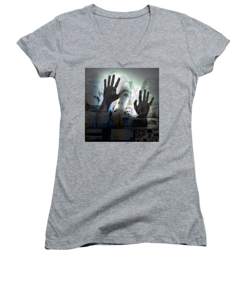 Women's V-Neck T-Shirt (Junior Cut) featuring the photograph In A Vision, Or In None by Danica Radman