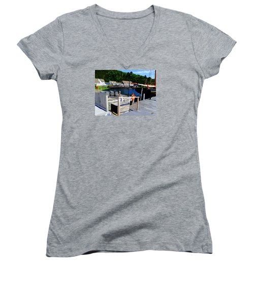 In Discovery Harbor Women's V-Neck T-Shirt