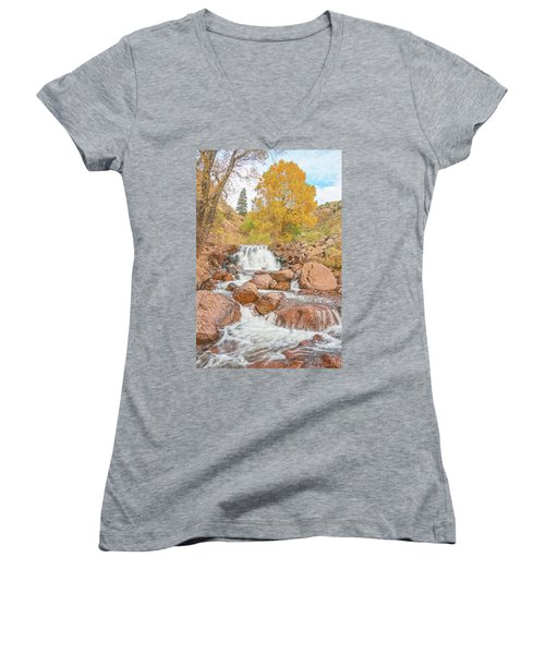 In Every Walk With Nature, One Receives Far More Than He Seeks, Wrote John Muir.  Women's V-Neck (Athletic Fit)