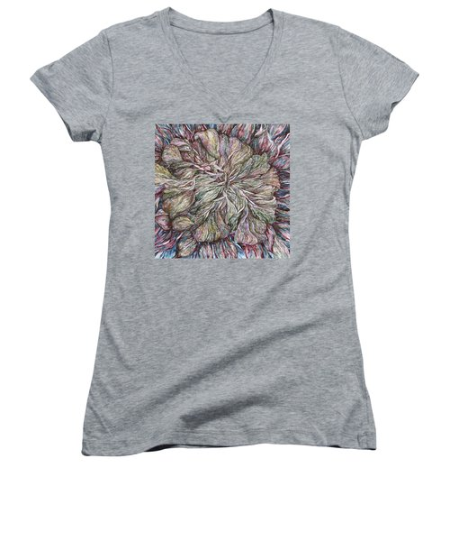 In Focus Women's V-Neck T-Shirt (Junior Cut) by Kim Tran