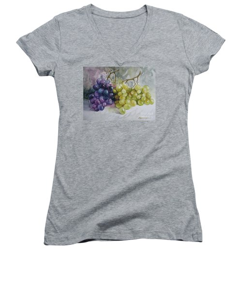 In Harmony Women's V-Neck T-Shirt (Junior Cut) by Elena Oleniuc