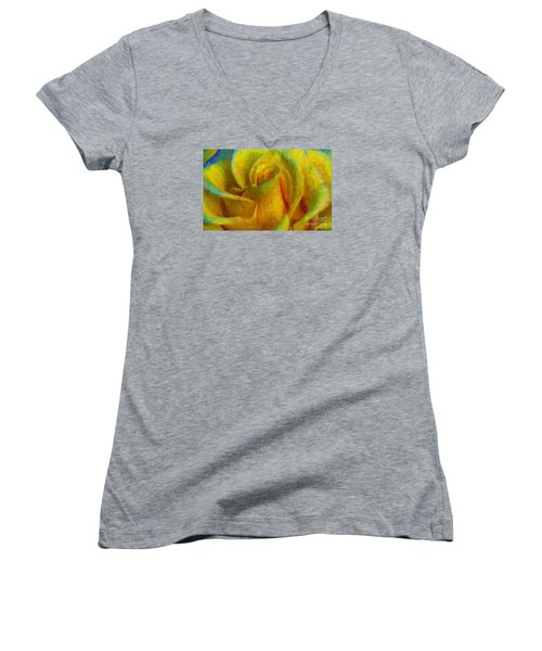 Women's V-Neck T-Shirt (Junior Cut) featuring the photograph In Memory Of Vincent by John  Kolenberg